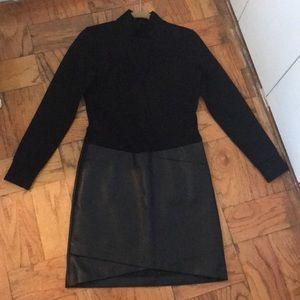 NWT Kenneth Cole black mock neck dress